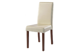 Cream Leather Dining Chairs