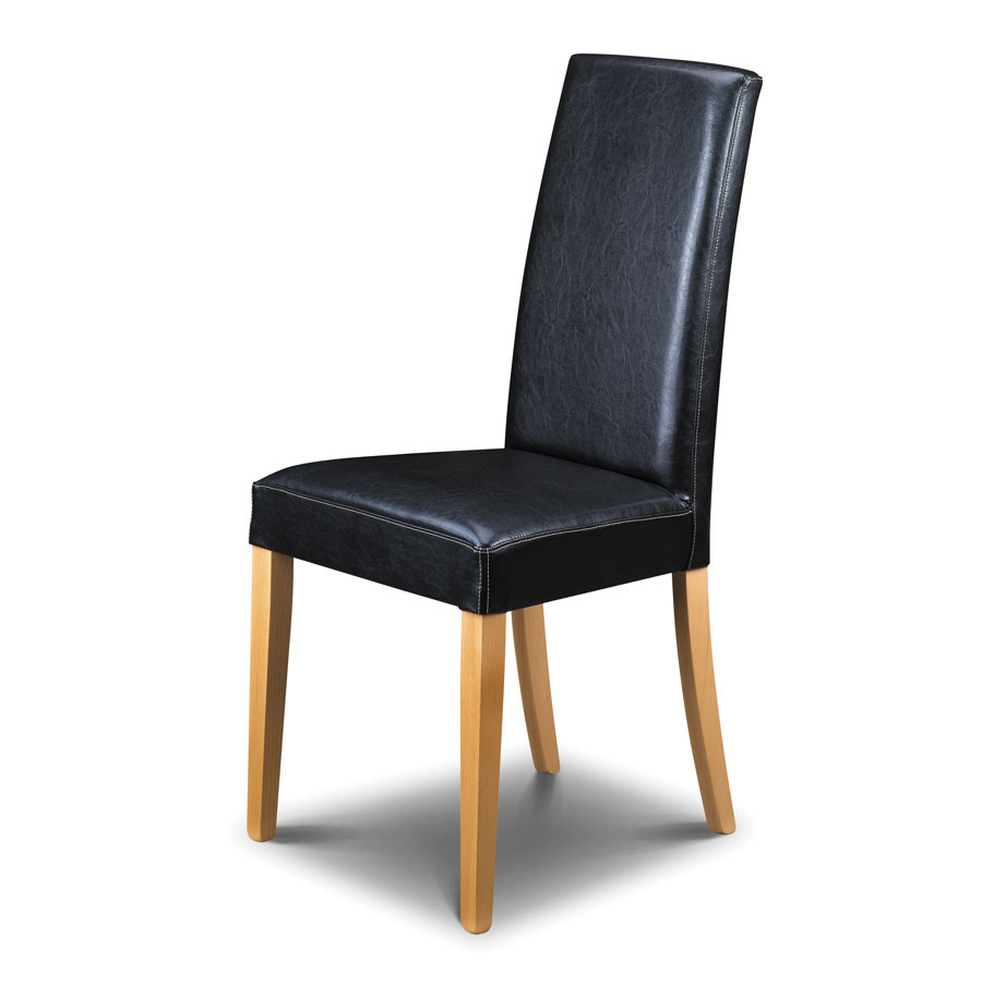 Buy The Julian Bowen Athena Black Leather Dining Chair 59 00