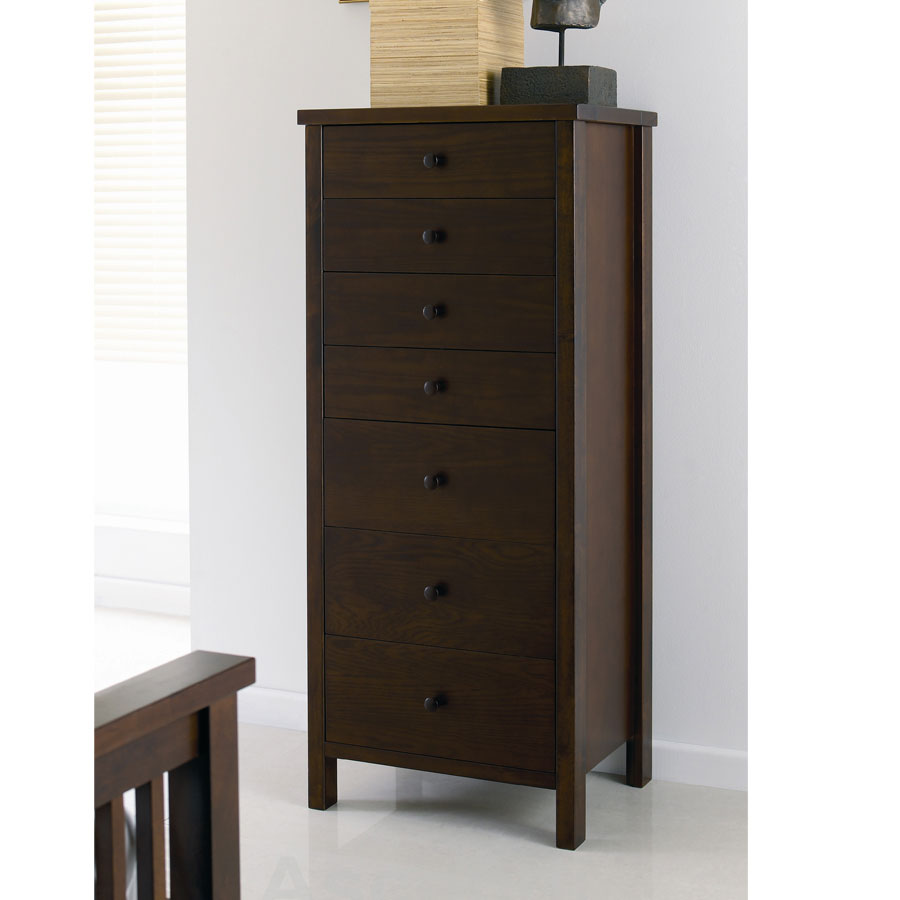 Chests of drawers Bentley Designs Atlantis Dark 7 Drawer Tall Chest