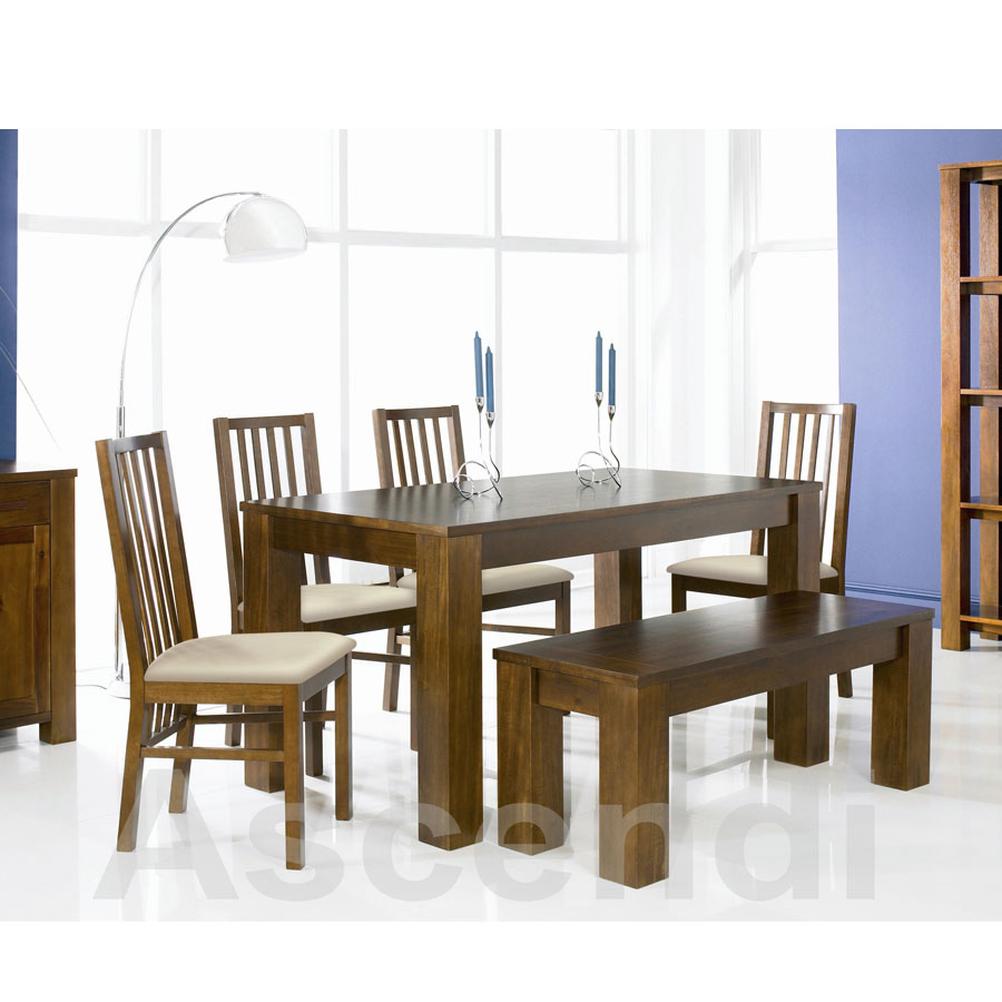 dining table cuba acacia dining table. Black Bedroom Furniture Sets. Home Design Ideas