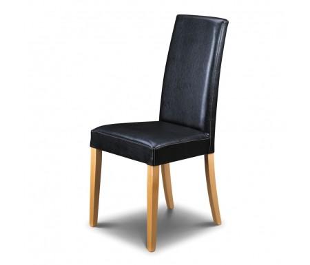 Fantastic Julian Bowen Athena Black Faux Leather Dining Chair Pabps2019 Chair Design Images Pabps2019Com
