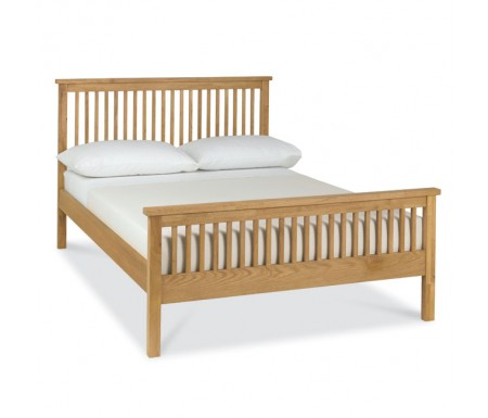 Bentley Designs Atlanta Oak ( 122cm ) High Footend Bed Frame
