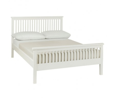 Bentley Designs Atlanta White ( 122cm ) High Footend Bed Frame