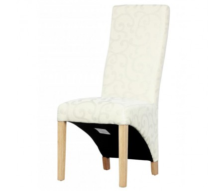 Shankar Baxter Scroll Ivory Dining Chair - Front