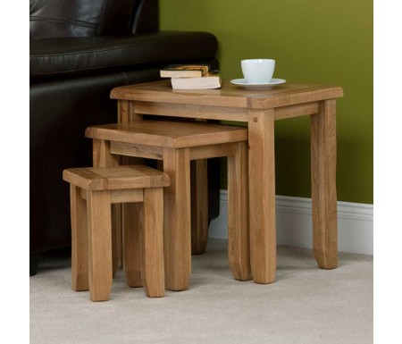 Cabos Nest of Oak Tables