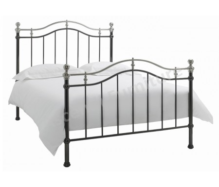 Bentley Designs Chloe Black & Shiny Nickel Bedstead