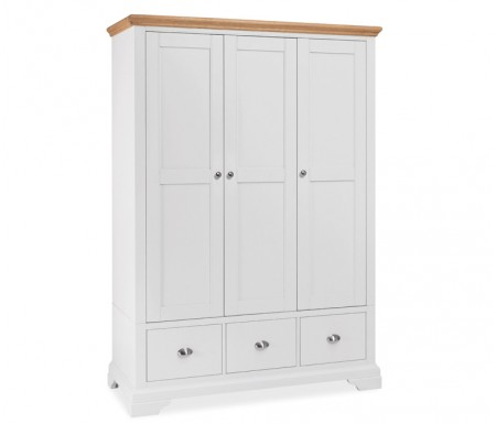 Bentley Designs Hampstead Two Tone Triple Wardrobe