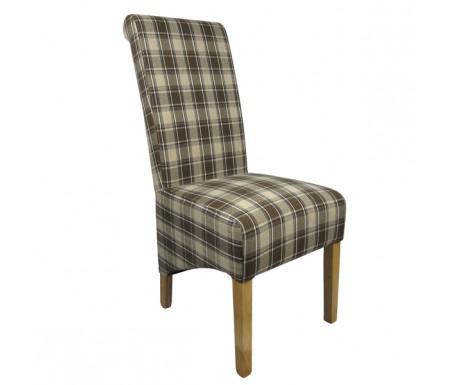 Shankar Krista Herringbone Brown Check Dining Chair