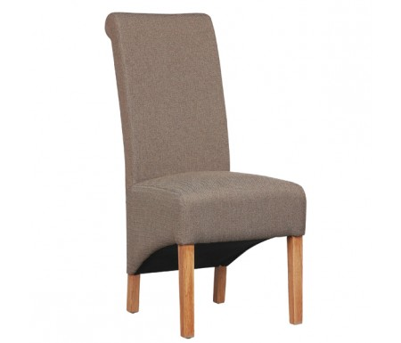 Shankar Krista Herringbone Brown Fabric Dining Chair