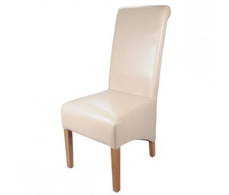Shankar Krista Ivory Leather Dining Chair