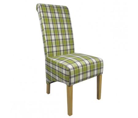 Shankar Krista Herringbone Lime Check Dining Chair