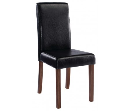 LPD Brompton Black Faux Leather Dining Chair