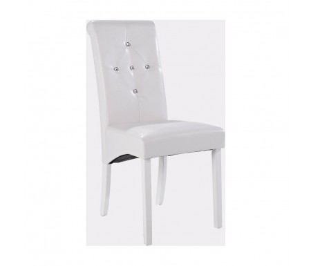 Lpd Monroe White Faux Leather Dining Chair