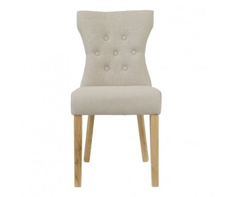 LPD Naples Fabric Dining Chair - Front
