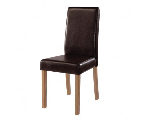 LPD Oakridge Brown Faux Leather Dining Chair