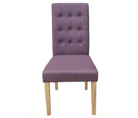 LPD Roma Plum Fabric Dining Chair