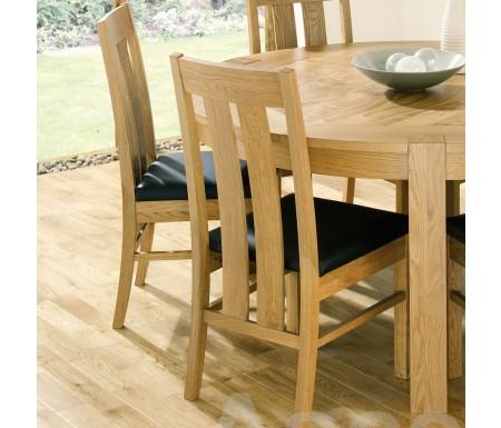 Bentley Designs Lyon Oak Slatted Dining Chair