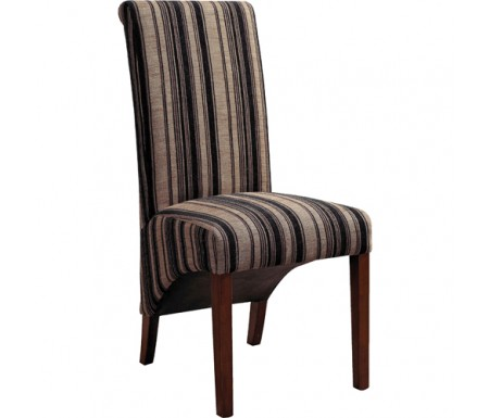Prime Biba Striped Fabric Dining Chair Beutiful Home Inspiration Truamahrainfo