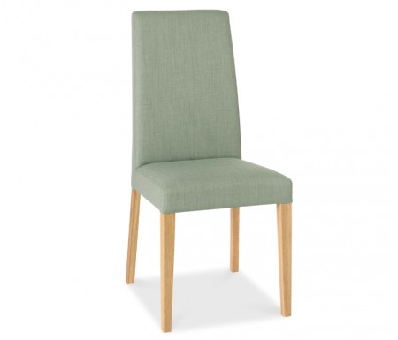 Bentley Designs Miles Oak Aqua Fabric Dining Chair