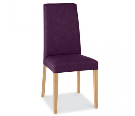 Bentley Designs Miles Oak Plum Fabric Dining Chair