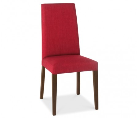 Bentley Designs Miles Walnut Red Fabric Dining Chair