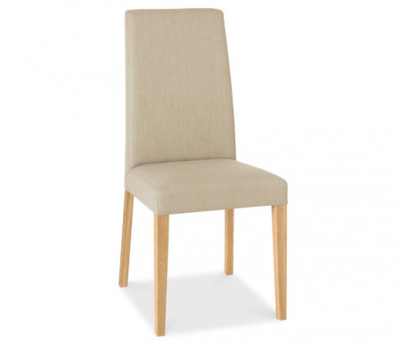 Bentley Designs Miles Oak Stone Fabric Dining Chair