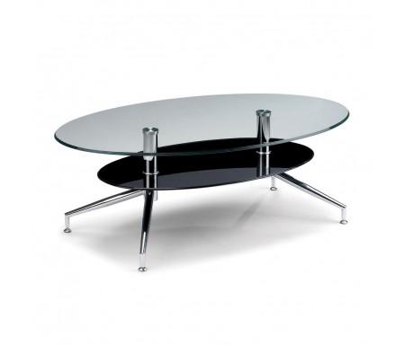 Julian Bowen Oklahoma Coffee Table Glass Chrome Coffee Table Contemporary Coffee Tables