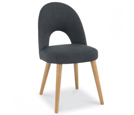 Bentley Designs Oslo Oak Steel Fabric Upholstered Dining Chair