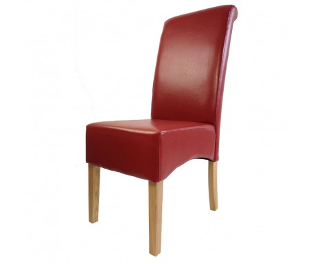 Lpd Padstow Red Leather Dining Chair