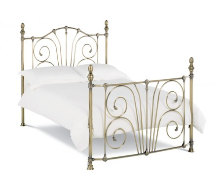 Bentley Designs Rebecca 150cm Antique Brass Bed Frame