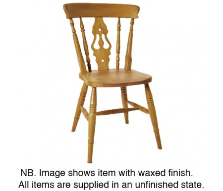 Baltimore High Back Fiddle Pine Dining Chair