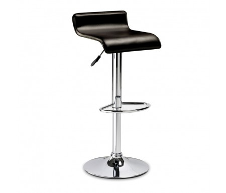 Julian Bowen Stratos Bar Stool with Brown Faux Leather  Seat