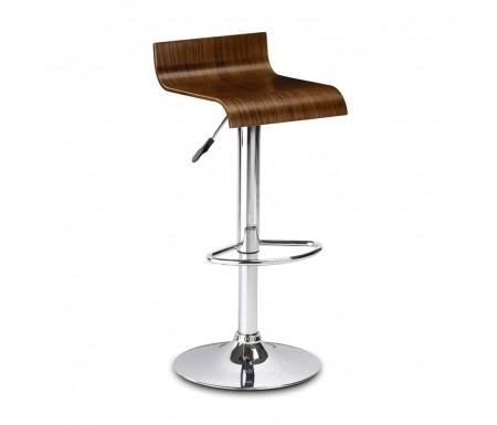 Julian Bowen Stratos Bar Stool with Walnut Seat
