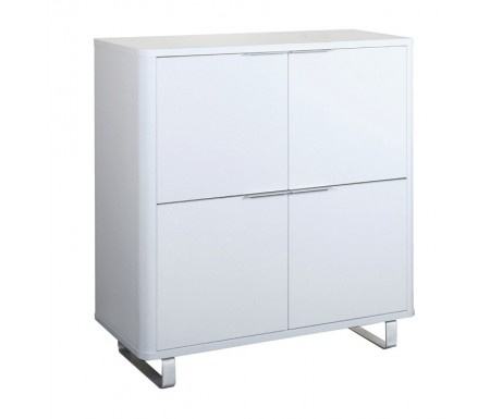 LPD Accent High Gloss White Storage Unit