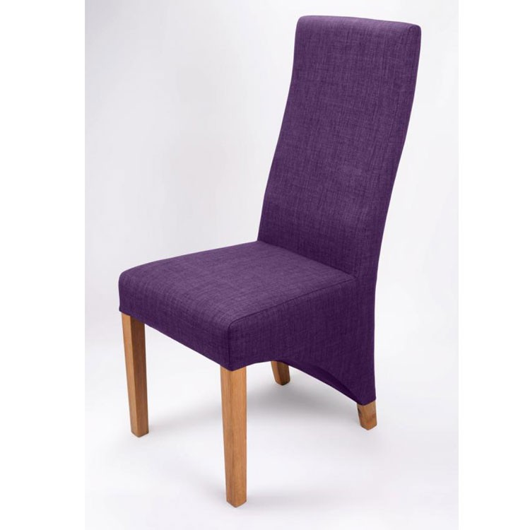 Shankar Baxter Plum Fabric Dining Chair