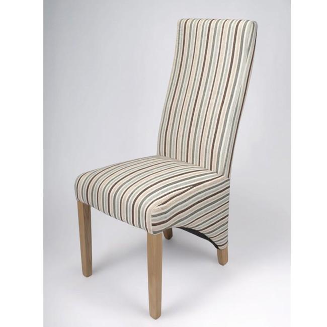 shankar baxter stripe duck egg dining chair