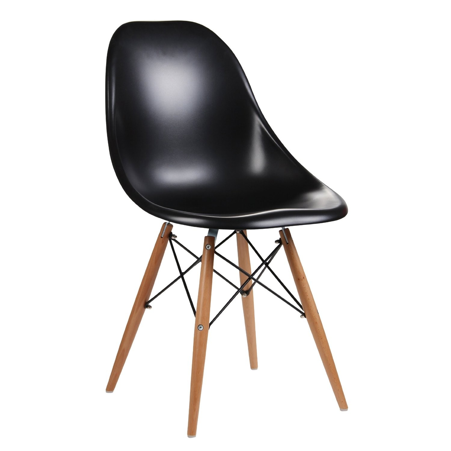 Eames Inspired Moulded Black Dining Chair