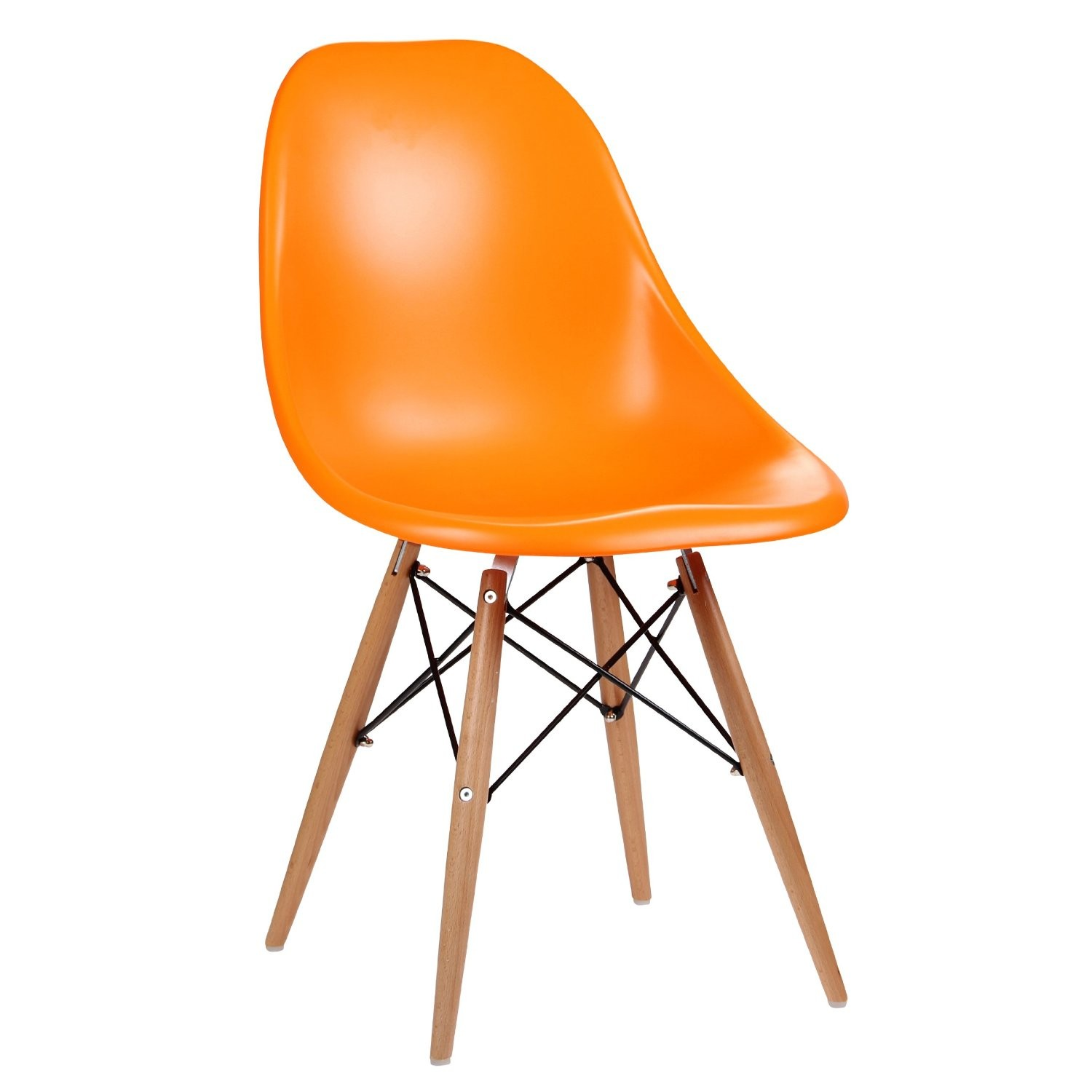 Eames Inspired Moulded Orange Dining Chair