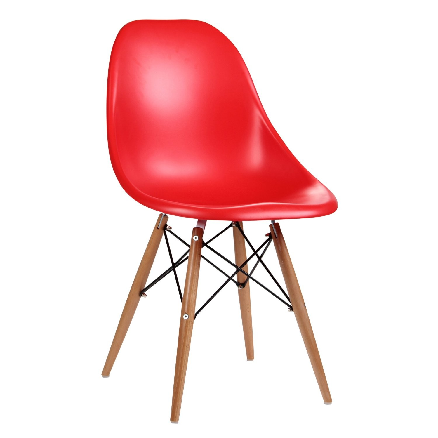 Eames Inspired Moulded Red Dining Chair