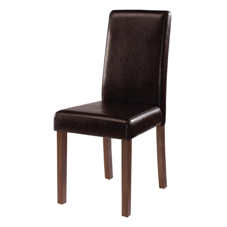 lpd brompton brown faux leather dining chair