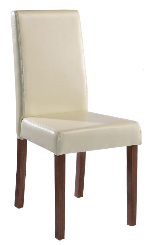 lpd brompton cream faux leather dining chair