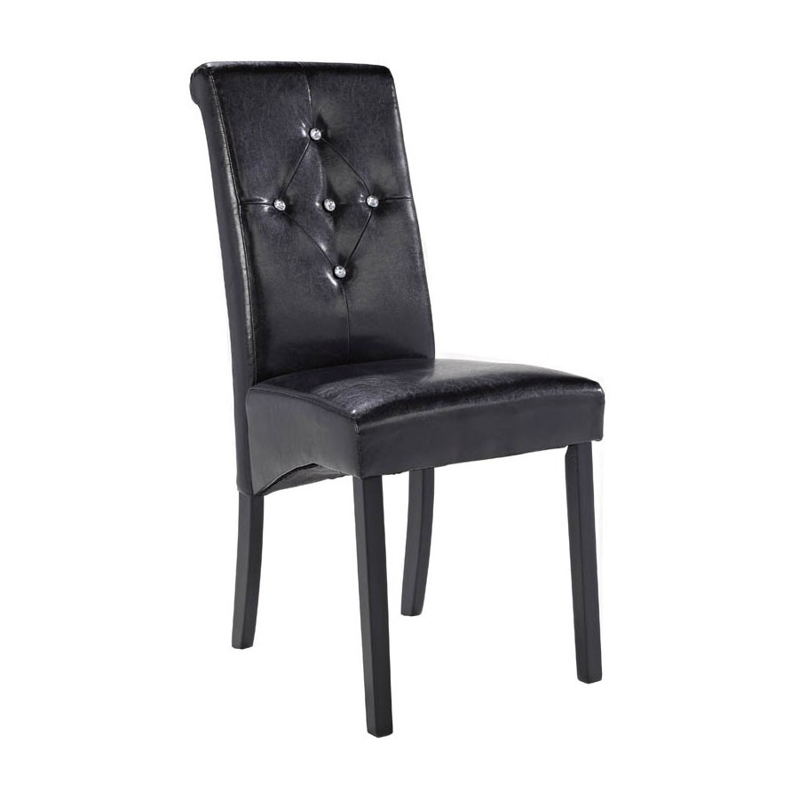 lpd monroe black faux leather dining chairs. Black Bedroom Furniture Sets. Home Design Ideas