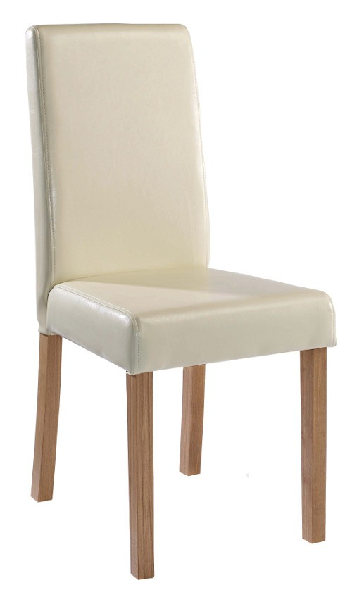 Lpd Oakridge Cream Faux Leather Dining Chair