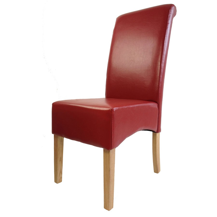 Padstow red leather dining chair red leather dining for Restaurant furniture