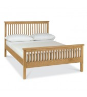 Bentley Designs Atlanta Oak Double ( 135cm ) High Footend Bed Frame