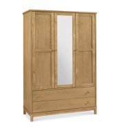 Bentley Designs Atlanta Oak Triple Wardrobe