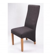 Shankar Baxter Charcoal Fabric Dining Chair