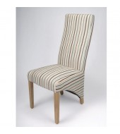 Shankar Baxter Stripe Duck Egg Dining Chair - Front