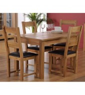 World Furniture Cabos Oak Dining Set - 4 Chairs