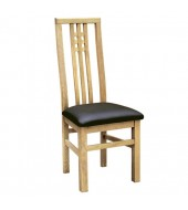Maddison Oak Dining Chair with Leather Seat